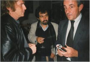 Ronny Loewy (Mitte) mit Louis Malle (r.) und Daniel Cohn-Bendit (l.)