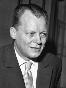 Schwarz-Weiß-Foto von Willy Brandt