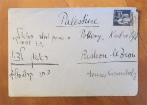Foto eines beschrifteten Briefumschlags