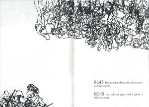 weiterer Ausschnitt mit Illustrationen über zwei Seiten
