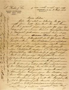 Handschriftlicher Brief