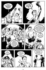 schwarz-weiß Abbildung einer Seite der Graphic Novel 'der Boxer'