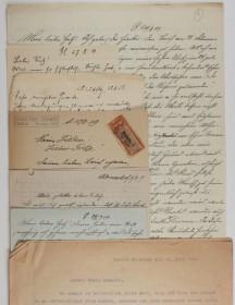 mehrere Briefe aus dem Jahr 1919