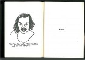 """Scan aus einem Buch mit dem Porträt einer Frau, darunter der Text """"Dachten Sie, Juden atmen einfach nur so zum Spaß?"""""""