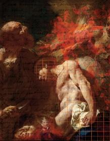 Gemälde der Opferung Isaaks mit Blutspritzern