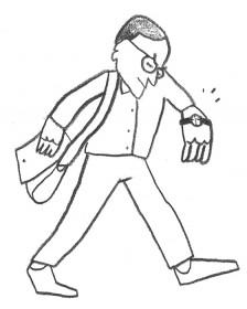 Illustration eines Kulturredakteurs