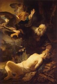 Gemälde der Opferung Isaaks