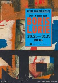 Plakat zur Ausstellung »Keine Kompromisse! Die Kunst des Boris Lurie«