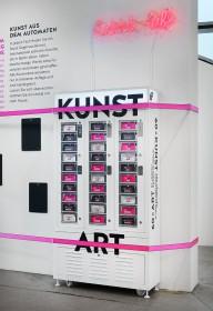 Der Kunstautomat in der Dauerausstellung