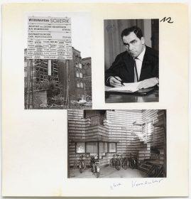 Drei schwarz-weiß-Fotos