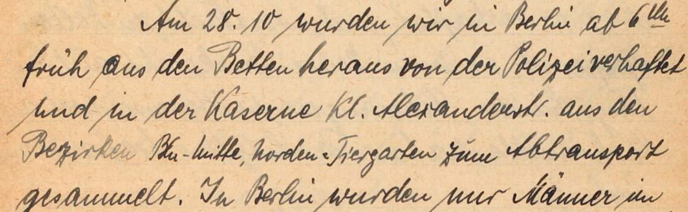 Die im Text zitierten, handschriftlichen Briefzeilen