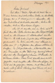 Der im Fließtext behandelte, handschriftliche Brief
