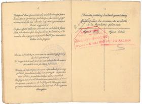 Aufgeschlagener Pass mit Stempeln