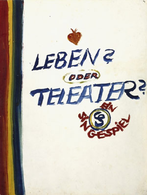 "Title sheet of the Singespiel, from ""Life? or Theatre?"""