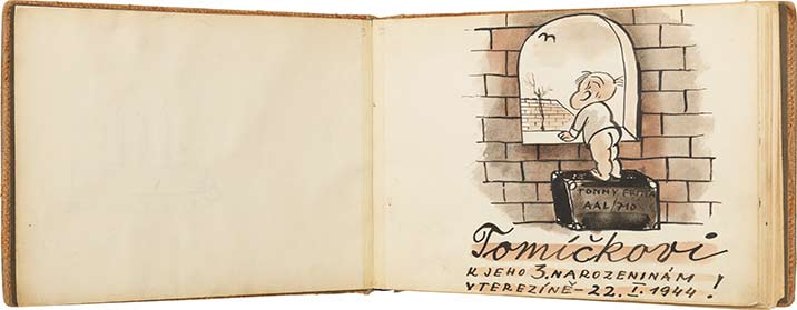 "Bedrich Fritta, ""To Tommy, for His Third Birthday in Terezin, 22 January 1944"""