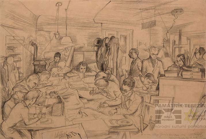 Leo Haas, Drawing Studio in Theresienstadt