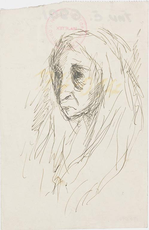 Bedrich Fritta, Portrait of an Old Woman