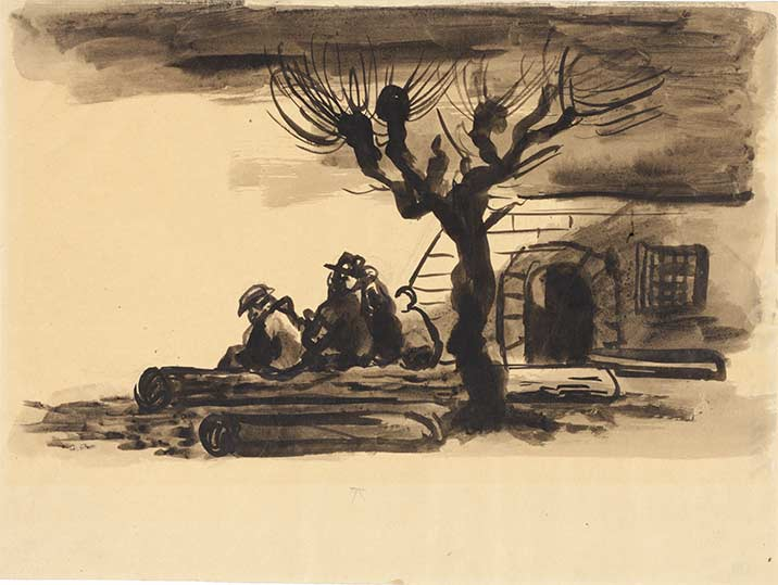 Bedrich Fritta, Rast: Rest: Figures Seated under a Tree