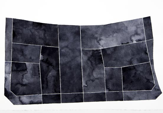 Gray-black fields forming a floor plan