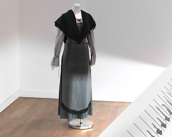 Dirndl Dress Mosque on a mannequin in the exhibition