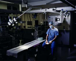 Photo of a doctor in an operating room
