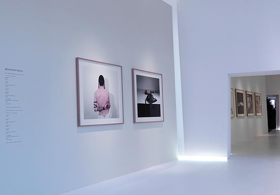 large photographs in the exhibition