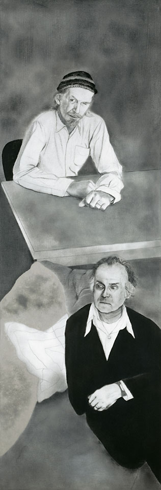 R.B. Kitaj, A Visit to London (Robert Creeley and Robert Duncan), [Ein Londonbesuch (Robert Creeley und Robert Duncan)], 1977