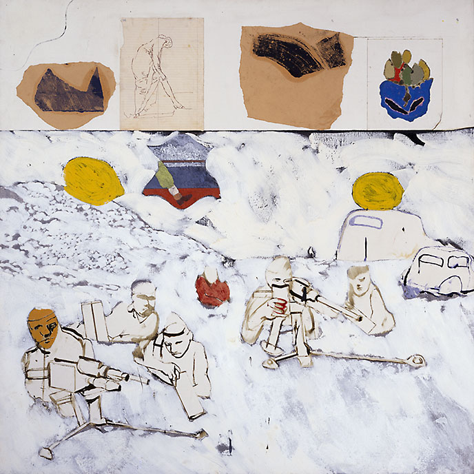 R.B. Kitaj, Kennst Du das Land?, [Do you know the land, where the lemon-trees grow], 1962