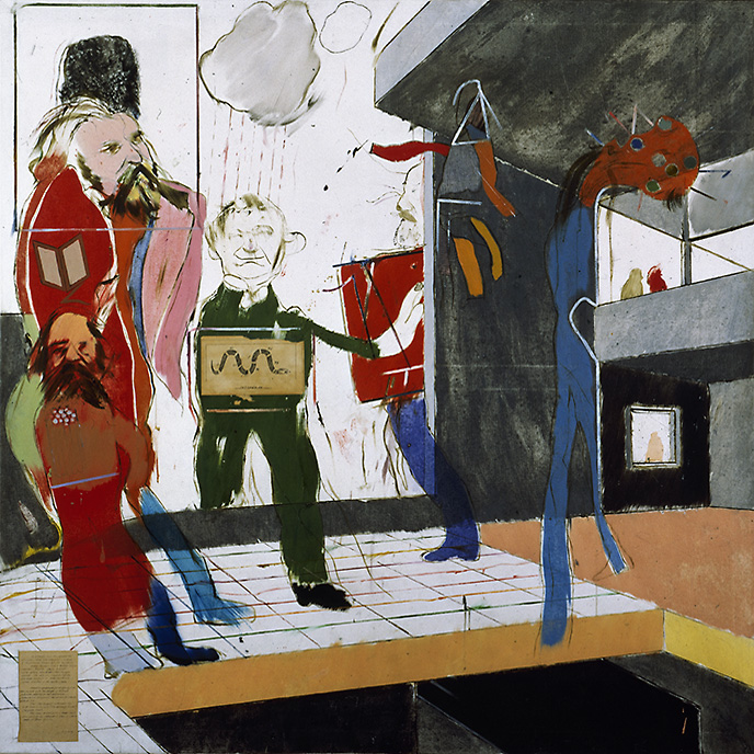 R.B. Kitaj, The Red Banquet, [Das rote Bankett], 1960