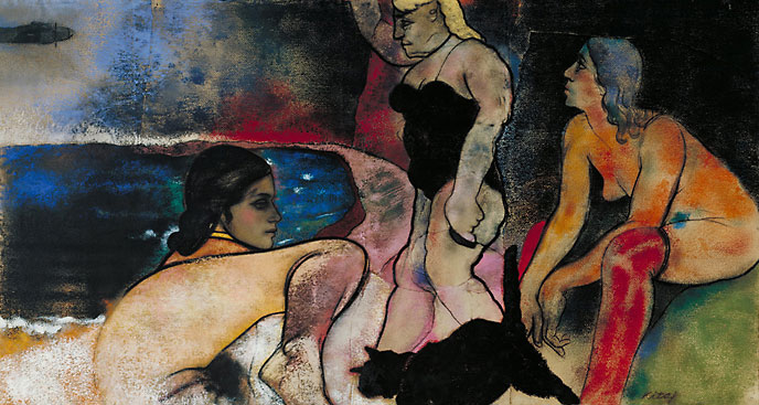 R.B. Kitaj,The Rise of Fascism, 1975�1979