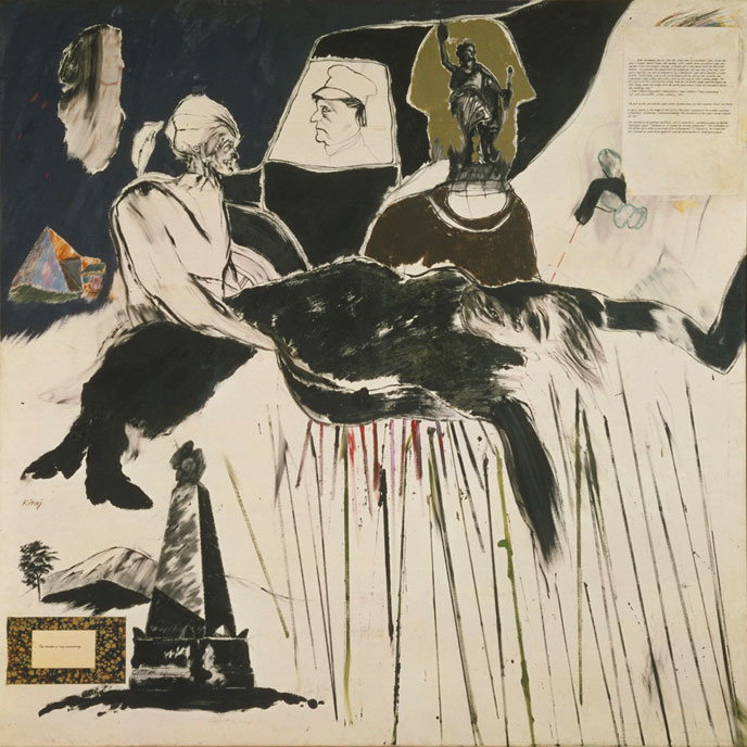R.B. Kitaj, The Murder of Rosa Luxemburg, [Der Mord an Rosa Luxemburg], 1960