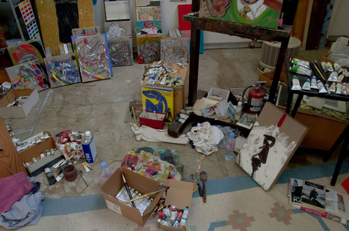 View into the Yellow Studio in L.A., 2007