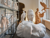 View into a room filled with plaster figures