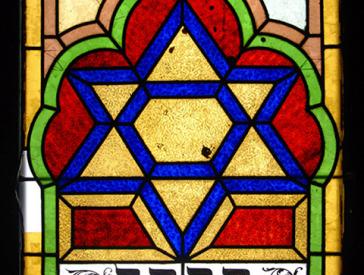 Betsaal-Fenster mit Davidstern