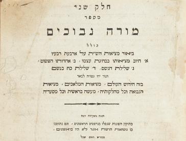 Titelblatt in hebräischen Buchstaben mit Verlagsbezeichnung in lateinischen Buchstaben