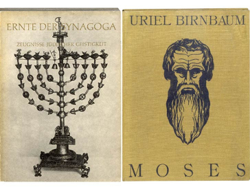 2 Book cover, Moses of Uriel Birnbaum and Harvest of Synagoga