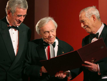Galadinner 2005, Winners Heinz Berggruen with Michael Naumann and W. Michael Blumenthal
