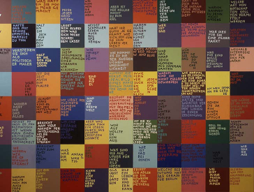Wall with labeled colored squares