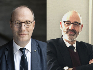 Portrait photos of the two lecturers Prof. Marschkies and Prof. Krochmalnik