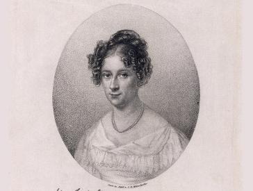 Porträt Rahel Varnhagen (von Carl Eduard Weber)