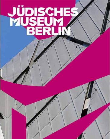 Buchcover mit Detail der Fassade des Libeskind-Baus und Logo des Jüdischen Museums Berlin