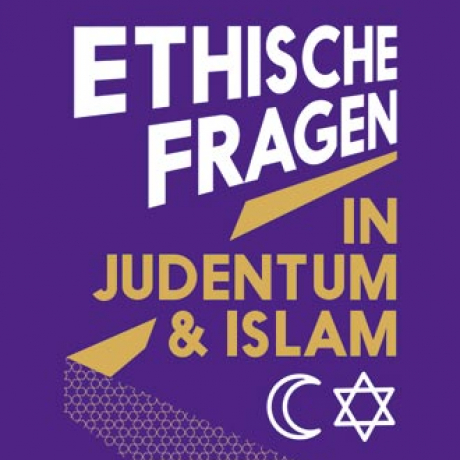 Logo reading »Ethische Fragen in Judentum & Islam« (Ethical Questions in Judaism and Islam)