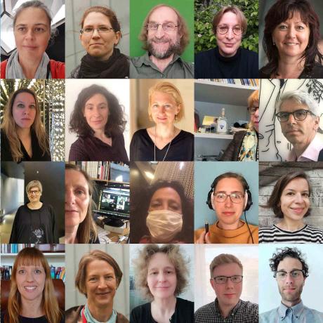 Collage Mitarbeiterinnen und Mitarbeiter Jüdisches Museum Berlin