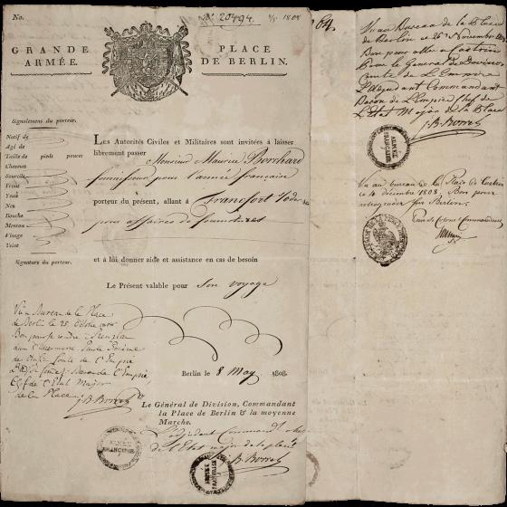 Historisches Dokument, mit einem Siegel versehen