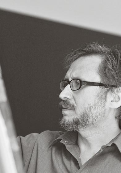 Portrait des Künstlers Rais Khalilov