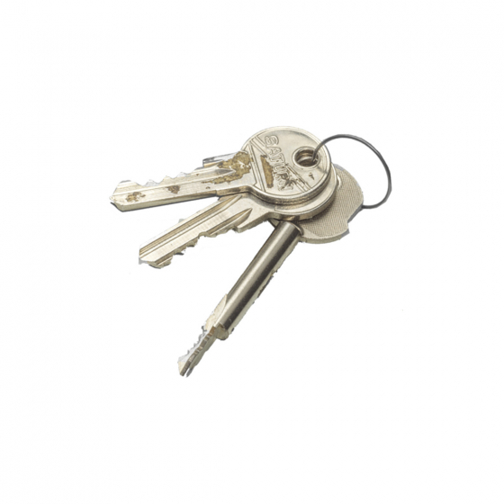 Object photography of ordinary looking bunch of keys