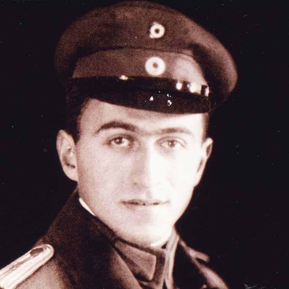 Porträt Fritz Goldschmidt (1889–1918) in Uniform