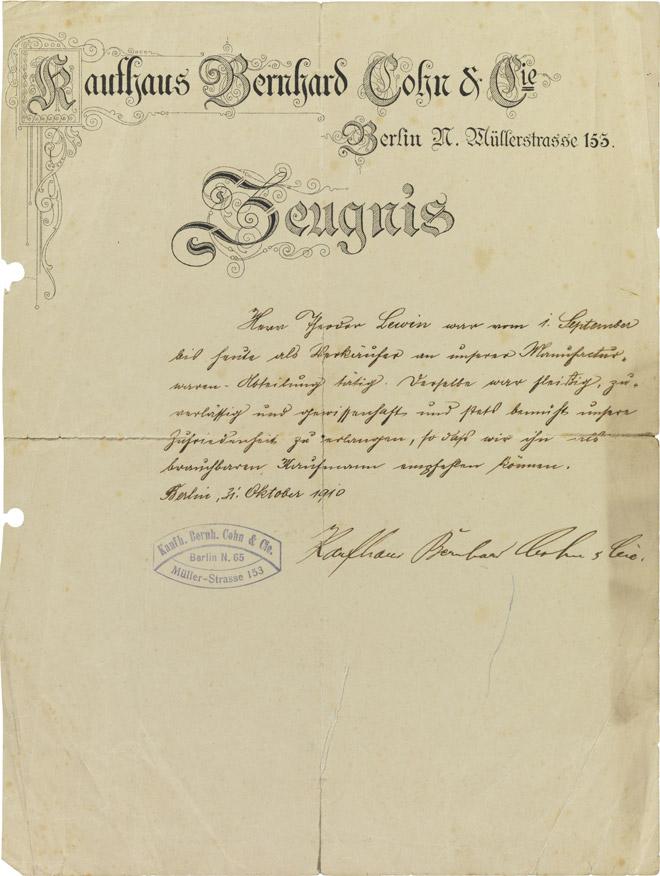 Printed letterhead, handwritten, stamped