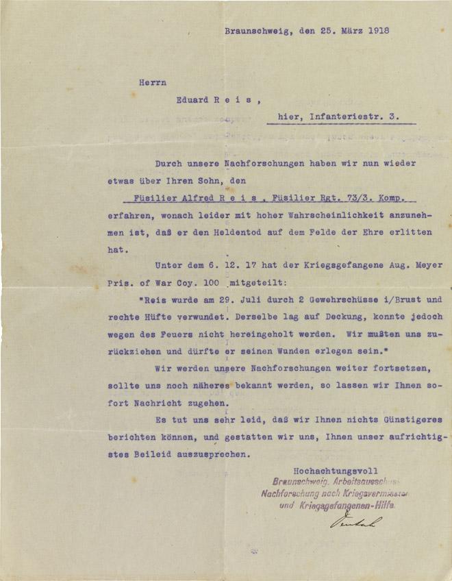 Letter, typewritten, stamped