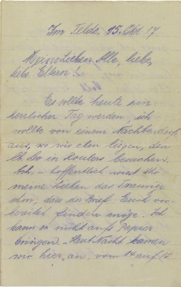 Letter: handwritten